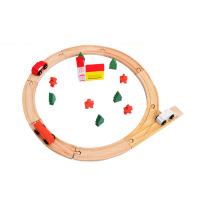 木制25PC圆形轨道玩具儿童拼装托马斯小火车轨道益智玩具