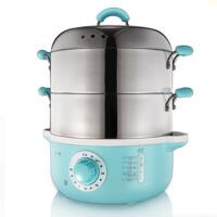 多功能家用电蒸锅2层304不锈钢定时迷你电蒸笼蒸菜热菜