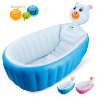 婴儿宝宝充气浴盆浴缸便携折叠收纳加大加厚洗澡盆沐浴桶