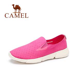 Camel/骆驼女鞋 春季新款时尚休闲鞋 舒适百搭平底鞋圆头单鞋
