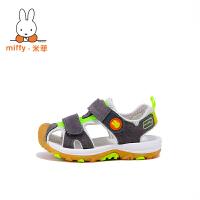 Miffy米菲儿童凉鞋女童凉鞋2017新款韩版夏季男童包头凉鞋机能鞋