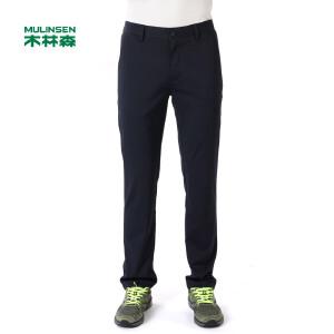 木林森男装 新款男士休闲长裤 纯色舒适百搭男长裤02174503