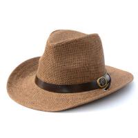 男女士草编礼帽大檐帽沙滩帽夏天沙滩帽子旅游遮阳帽