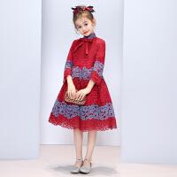 女童洋气公主裙秋冬儿童花童礼服走秀表演小主持人演出服