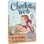 【首页抢券300-100】Charlotte's Web 夏洛的网英文版 EB怀特 纽博瑞银奖作品 儿童英语小说章节书 英文原版图书书正版