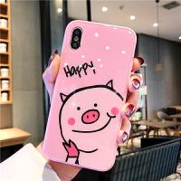 苹果7plus手机壳iphone8套6s女8P新款6sp玻璃六七八卡通i6可爱猪猪粉色少女心ipon