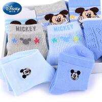 【买一送一】迪士尼儿童袜子男童非纯棉精梳棉春夏7-9岁秋季男孩3-5宝宝棉袜-新