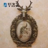 家里的装饰品鹿头壁挂欧式复古创意小鸟壁饰 树脂墙壁挂件家居装饰品 美式乡村鹿头壁挂G