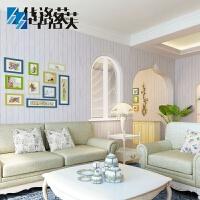 华洛芙 美式木板纹无纺布墙贴卧室书房客厅电视背景地中海风格房 仅墙纸