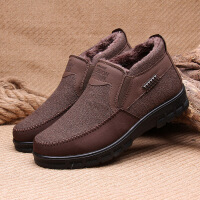 №【2019新款】冬天老年人穿的老北京布鞋男士棉鞋老人中老年软底爸爸棉鞋
