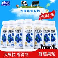 欧亚牛奶大理牧场低温果粒酸奶蓝莓果粒酸牛奶243g*12瓶抖音同款