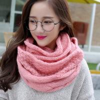 №【2019新款】围巾女韩版围脖女士冬天加厚围脖套头 韩国脖套毛线围巾
