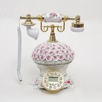 花束欧式时尚来电显示仿古电话复古创意欧式田园风格座机