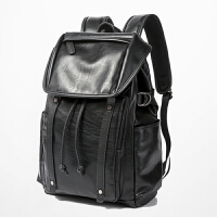 2018新款双肩包男包青年背包休闲户外男女士大容量旅行背包双肩电脑包 黑色