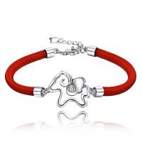 红绳女手链手工编织生肖马首饰品生日礼物
