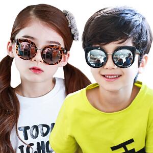 kk树防紫外线儿童眼镜墨镜个性小孩太阳镜女童夏季防晒宝宝太阳镜