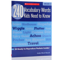 英文原版Vocabulary Words Kids Need to Know Grade 2 二年级孩子需要知道的24