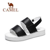 Camel/骆驼女鞋 春夏新款 欧美风休闲厚底鞋弹力带松糕凉鞋
