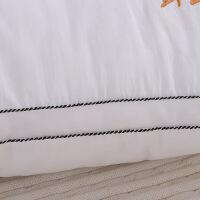 【人气】放心购 羽丝绒纤丝羽绒枕芯枕头 纯全棉立体单双人枕可水洗