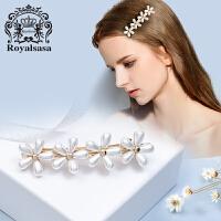 皇家莎莎Royalsasa发饰 韩国头饰 花的姿态 小清新花朵顶夹横夹弹簧夹07SP232