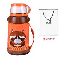 杯具熊(beddybear)保温杯儿童水壶带吸管宝宝男女学生婴儿便携防漏水杯
