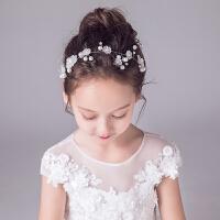 儿童演出头饰女童发箍饰品女孩钢琴表演头箍花童公主珍珠发饰