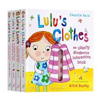 进口英文原版绘本 Lulu系列 我爱露露系列 5册全集 趣味翻翻书 精装触摸操作书 儿童启蒙图书 Lulu's Loo
