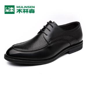 木林森男鞋春夏新款男士商务正装皮鞋 日常商务休闲百搭舒适男鞋05177013