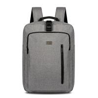 17寸男士商务笔记本电脑包双肩包旅行包女学生大容量电脑背包 灰色 17寸