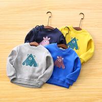 男童卫衣冬装宝宝卡通套头上衣儿童卫衣外套