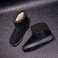 冬季雪地靴女2019厚底短筒靴子平底防滑棉鞋加厚保暖棉靴毛毛鞋女