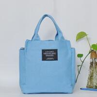 帆布手提包小清新便当包饭盒包袋休闲妈咪手提女小拎包花布包
