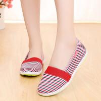 春夏款牛筋老北京布鞋女孕妇妈妈平底单鞋舒适透气工作鞋女鞋