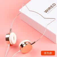 耳机 女生耳机玫瑰金头戴式猫耳耳机手机通用带麦线控 套餐一