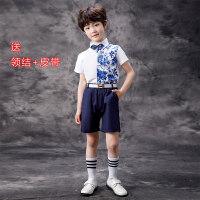 六一儿童演出服女蓬蓬裙表演服装男童中国风主持人礼服幼儿合唱服