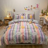 纯棉卡通床上用品四件套全棉男孩女孩床单被套床品套件双人1.5m/1.8米床4件套