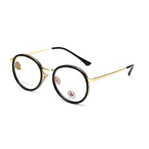 明治/KHDESIGN 超轻圆形眼镜男潮近视眼镜框女韩版眼睛个性平光镜文艺复古眼镜框KS1768