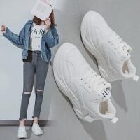 新网红小白鞋女2019春季新款百搭2019韩版厚底老爹鞋运动板鞋白鞋