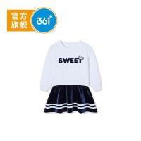 【冰点秒杀价:99】361度女童针织连衣裙2019年秋季新品K61934403