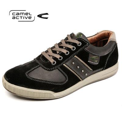 Camel Active/骆驼动感 秋冬男鞋低帮透气系带休闲鞋皮鞋透气男鞋