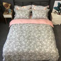 纯棉13372密度花边床单四件套纯棉四件套双人床上用品 标准200*230cm