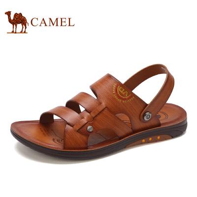 骆驼牌 男鞋 新品男士轻便透气沙滩鞋日常休闲凉拖鞋男