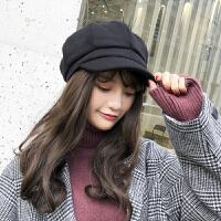 帽子女秋冬天季韩版日系百搭休闲时尚八角帽英伦潮保暖报童贝雷帽