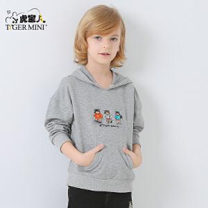 小虎宝儿童装男童纯棉卫衣儿童韩版上衣外套2018春装新款中大童潮