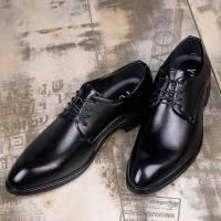 夏季男士韩版商务休闲鞋内增高皮鞋青年潮流英伦尖头正装男鞋婚鞋