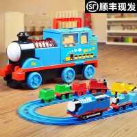 儿童声光电动托马斯小火车轨道套装益智男女孩玩具合金汽车3-6岁