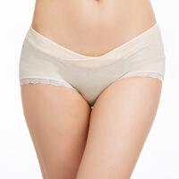 享受孕彩棉低腰内裤蕾丝边三角裤交叉无痕孕妇内衣内裤怀孕短裤