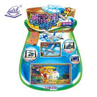【当当自营】AR学校 看海洋特别版4D立体早教闪卡认知学习卡儿童益智玩具第1册
