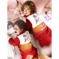 纯棉亲子装母女套装春秋长袖睡衣棉儿童秋季家居服