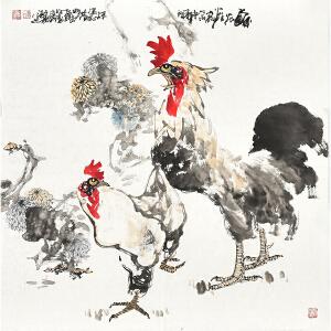 山东省美术家协会会员 李东献《富贵大吉图》gh04365